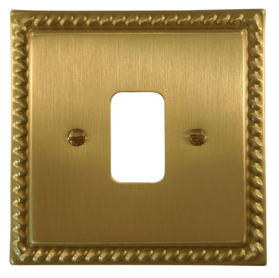 G&H Monarch Roped Satin Brushed Brass